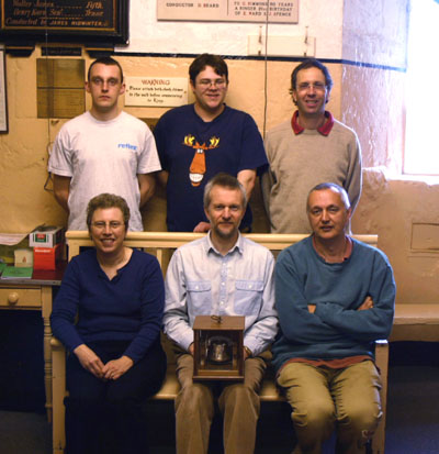 The winning Croome Trophy Team 2005. Point at the people to see their names.