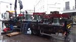 The 12 Minster bells loaded on the lorry bound to their individual destinations, either sold, or to be melted and recycled, Jan 2017