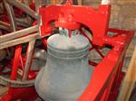 Bishop's Cleeve newly repainted bell frame, work done by Nick Hopkins